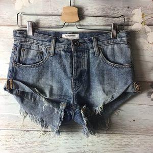 One Teaspoon Bandits Shorts Denim Size 22/ US 0